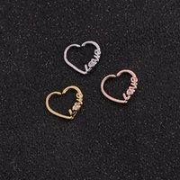 Stud Stainless Steel Crystal Love Zircon Piercing Ear Studs Earrings For Women Men Fashion Jewelry Accessories Gifts