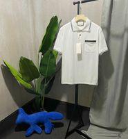 2021 Мужская Поло Мода Дизайнер T Рубашки Рубашка Хлопок Polos С Веб и Блокировка Буква Футболка G XJCQR 9061 Мужчины