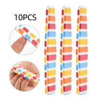 10pcs Nail Files Professional Manicure Tools Cuticle Remover Nailart Sponge Buffing Block Double Sided Nails Filing Accessories