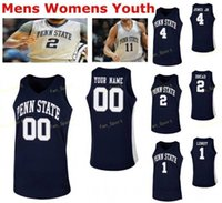 NCAA College Penn State Nittany Lions Pallacanestro Jersey 11 Lamar Stevens 12 Izaiah Brockington 13 Rasir Bolton 14 Kelly Cucito personalizzato