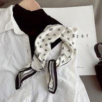 Gao mola e verão terno simples temperamento seda pequeno quadrado feminino versátil lenço profissional