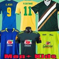 2020 2021 Soccer Jerseys 20 21 Camiseta Brasil Training Shirts Pre Match Vinicius Dani Alves يسوع مارسيلو أطفال مايلوتس كرة القدم قميص
