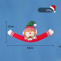 Weihnachtsvorhang Schnalle Puppe Santasnowman Kreative Vorhänge Zurück Fastener Weihnachten Ferienhaus Fenster Dekorationen HWB8977