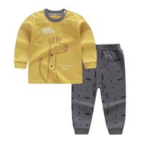 Clothing Sets ZWY1353 Autumn Children Hoodies Set Cartoon Kids Hooded Boys Casual Sports Pants 2pcs Outfit Suit
