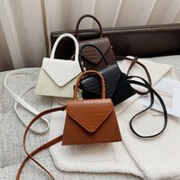 Fashion Alligator Pattern Hanbag PU Leather Solid Color Messenger Crossbody Bags for Women 2021 Street Shoulder Chain Totes