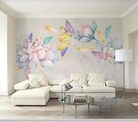 Wallpapers Papel De Parede Elegant Watercolor Hand Painted Magnolia Flower 3d Wallpaper Mural,living Room Bedroom Wall Papers Home Decor