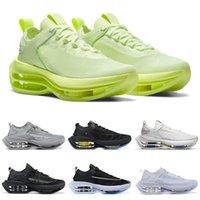Zoom مزدوجة مكدسة الأحذية السوداء بالكاد الرياضة رياضة الرجال النساء الثلاثي فولت تشغيل الأبيض تاينرز إمرأة رجل chaussurs gvgwh