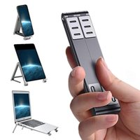 Cell Phone Mounts & Holders Portable Laptop Stand Metal Mini Folding Stand, Mobile Tablet Aluminum Alloy Three-in-one
