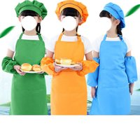 Children Front Pocket Bib Apron Kid Boys Girls Kitchen Child Craft Kids Painting Cooking Baby Pinafore