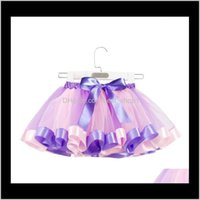Favor Event Festive Supplies Home & Gardenfashion Girl 19 Colors Pettiskirt Party Dance Rainbow Tulle Skirts Girls Clothes Children Clothing