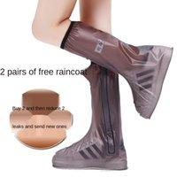 Raincoats Women And Men Rainy Waterproof Shoe Covers Rain-proof Anti-skid Thickened Wear-resistant Bottom Adult Children Rain Boots
