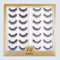 14Pairs 3D Natural Wispy False Eyelashes Multilayer Fluffy Fake Eyelash DIY Lashes Extension Professional Makeup Tool Multipack