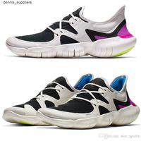 النسخة الأصلية rn 5.0 في الهواء الطلق الرياضة مصمم الاحذية حذاء رياضة الأحذية الرياضية الصنادل ماركة الرجال النساء أسود أبيض