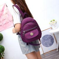 Mini mochila impermeable Monedero de mujer Mochila de nylon mochila pequeña bolsa de viaje