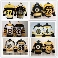 Stanley Cup Finals Patch Boston Broston Bruins Black White 33 Zdeno Chara 37 Patrice Bergeron Brad Marchand Jerseys David Pastrnak 73 Charlie MCavoy Shirt Uniform
