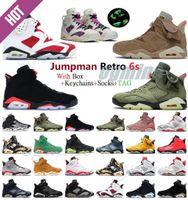 Jumpman 6 6 S Kızılötesi Yansıtıcı Basketbol Ayakkabı RetroErkekler Kadınlar DMP UNC PE Millennial Pembe Erkek Spor Ayakkabı Tavşan Eğitmenler Sneakers RRTQ #