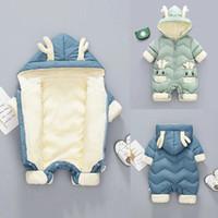 Jumpsuits Menoea 0-2 Years Winter Baby Snowsuit Plus Velvet Thick Boys Jumpsuit Born Romper Girls Overalls Xmas Toddler Coat