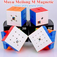MOYU MEILONG M 자기 2x2x2 3x3x3 매직 큐브 4x4x4 5x5x5 속도 큐브 자석 퍼즐 큐브 2x2 3x3 Cubo Magico 4x4 5x5
