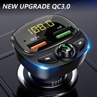 Car Audio Fm Transmitter Wireless Bluetooth Receiving LCD MP3 Player Kit QC 3.0 Fast Charging Hands Free USB Charger Drop