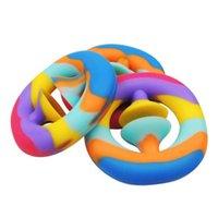 Rainbow Fidget Grab Snaper Squetter Squeeze Toy Kids Cadeaux Mariage Fournisseur de Main Force Grip Squeezy Squeezy Prise autisme Soulagement Soulagement Bébé