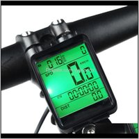 Computer Impermeabile Bicicletta Computer wireless e cablato Bike Bike Bike Cycling Contachometro Cronometro Tachimetro Guardi LED Digital Vota Hrtaa 89ZXL