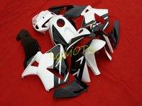 Personalice kits de carenajes de motocicleta para Honda CBR600RR F5 2005-2006 BLANCO BLANCO BLACK ABS Kit de carenado Inyección CBR600 RR 05-06 2005 2006 Bodykits Piezas de carrocería # U297E