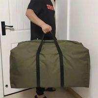 Unisex Thin Folding Luggage Bag Big Capacity Wearable Duffle Bag Casual Light Men Handbag Weekender Oxford Clothing Storage Bags