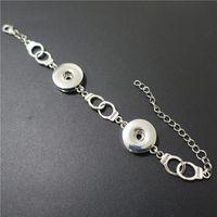 Bracelets de charme Freedom Mercotte Bracelet Métal Interchangeable Boutons Snap Boutons de bracelet Fashion Bijoux