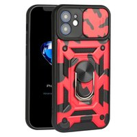 camouflage Phone Cases For Iphone 13 Pro Max Mini 12 11 XSMAX XR XS X 8 7 6 SE Armor Slide Camera Protection Kickstand Cellphone Cese Magnetic Back Cover