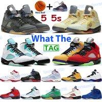 أحذية كرة السلة للرجال 5 5S ما الأسود الشاش الأبيض x الشراع الوردي رغوة أعلى 3 رمادي أوريغون البديل بيل عيد الفصح أوريو أحذية رياضية عالية