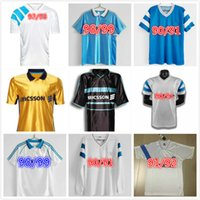 1998 1999 2000 Olympique De Marseille Retro Soccer Jerseys 1990 1991 1992 Pires Maurice Blanc Ravanelli Pena Gallas 클래식 90 91 93 98 99 빈티지 축구 셔츠