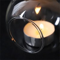60mm colgando taller de tealight Globos de cristal Terrarium Wedding Vela Titular de la vela Candelabro Jarrón Home Hotel Bar Decoración AHC3527 530 R2