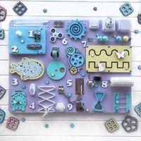Enfants Biens Book Board DIY Jouets Toys Motor Verrou Verrou Cognition Jeux Jeux Pièces de Jeux Bébé Montessori Activité sensorielle Accessoires de la carte