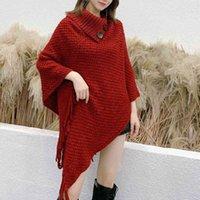 Zima Nowa damska Cape Fashion Tassel Koreański Wszechstronny Ciepły pogrubiony dzianiny szal wełniany szal