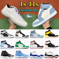 الأزياء 1 1S University أحذية كرة السلة الزرقاء 11 11 ثانية الذكرى 25 ثانية منخفضة بيضاء بلينك كونكورد رجال هايبر الملكي الظلام موتشا انكور النساء أحذية