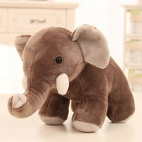 25cm Cute Large Stuffed Plush Toy boo elephant Simulation Elephant Doll Throw Pillow Birthday Christmas Gift
