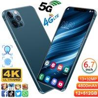 2021 최신 판매 스마트 폰 X30Pro 휴대 전화 12 + 512GB Andriod 10.0 전화 MTK6889 10 코어 6800mAh 큰 배터리 32 + 48MP 스마트 폰 4G 5G LTE