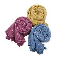 Fahion Щепка Фольга морщинистые женщины шарфы головы Whar Maxi размер мусульманские дамы Hijabs с кулонкой твил хлопок чувствуют себя давно украшенные