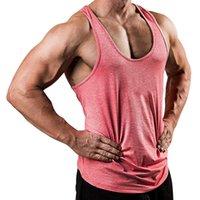 Homens Camisetas Tanque Algodão Algodão Bodybuilding Masculino Fitness Camisa Sem Mangas Vest Sportswear Tops Tees