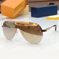 Classic letra mujeres hombres anteojos con caja de una pieza lentes gafas de sol medio redondo marco de sol cristal gafas de lujo