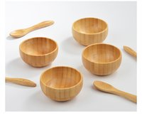 10set 50g Bamboo Facial Mask Bowl With Spoon Face Cream Bowl Makeup Cosmetic Wooden Mask Refillacle Bottle Bowl