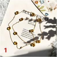 Moda Quatro Folhas Trevo Gold Blue Bronze Dez Flores Colar Pingente Para Mulheres Amantes Presente Clássico Designer Marca Jóias DFF0700