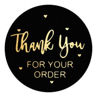 500pcs 1inch 1.5inch Thank You Paper Adhesive Stickers Business Baking Package Gift Box Decor Envelope Label
