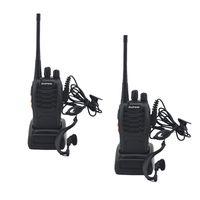 BF-888S Baofeng Walkie Talkie 888S UHF 400-470MHZ 16 تشانيل المحمولة اتجاهين راديو مع سماعة الإرسال والاستقبال BF888S