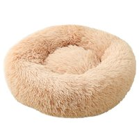 Cat Beds & Furniture Round Bed Dogs House Kennel Pet Mats Soft Long Plush Mat Warm Basket Cushion Cats Sofa Machine Wash