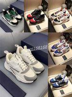 Dior shoes Luxe الرجال الأبيض عارضة الأحذية عالية الجودة اتصال B2 أسود الثلاثي تيس شبكة الأزياء حذاء امرأة أنثى هولمز مصمم زوجين نماذج