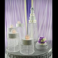Diğer Olay Parti Malzemeleri 4 adet / grup Şeffaf Akrilik Kek Standı Düğün Dekorasyon Centerpiece Ekran Doğum Günü