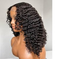 Lace Wigs Curly Front Human Hair Deep 4x4 Closure For Black Women Ombre Colored Glueless Pre Plucked Wig