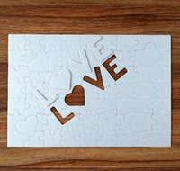 A4 Blank Sublimation Jigsaw Party Favor 72 Pieces LOVE Pearlescent Paper Picture Puzzle Toy Birthday Valentine's Day Gift 20cm*29cm