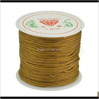 Arts And Crafts 45M Roll 08Mm Nylon Kumihimo Thread For Jewerly Making Tassel Material Diy Red Cords Findings Handmade Braided Rope Su Ywqbm